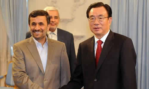 He Guoqiang Meets with Iranian Vice President