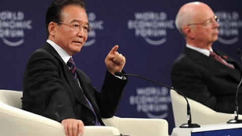Premier Wen Jiabao Attends the Opening Plenary Session and Business Dialogue of the World Economic Forum Annual Meeting of New Champions 2011
