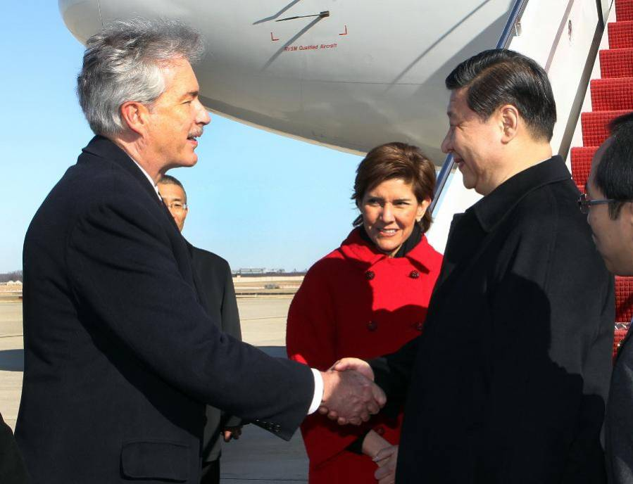 Chinese VP Xi Jinping arrives in Washington for official visit
