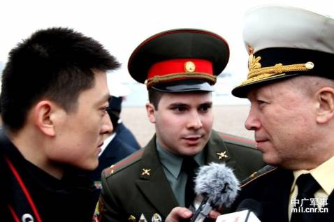 Chinese, Russian warships gather at Qingdao for joint drill