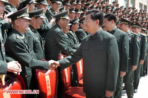 President Hu stresses armed forces' loyalty to Party