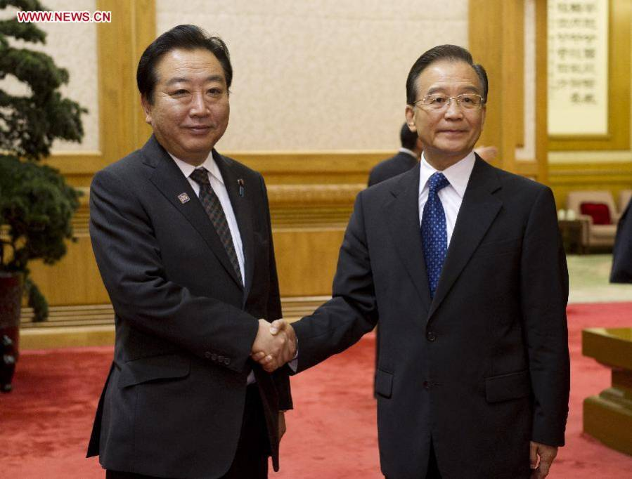 Premier Wen Jiabao meets with Japanese PM Noda