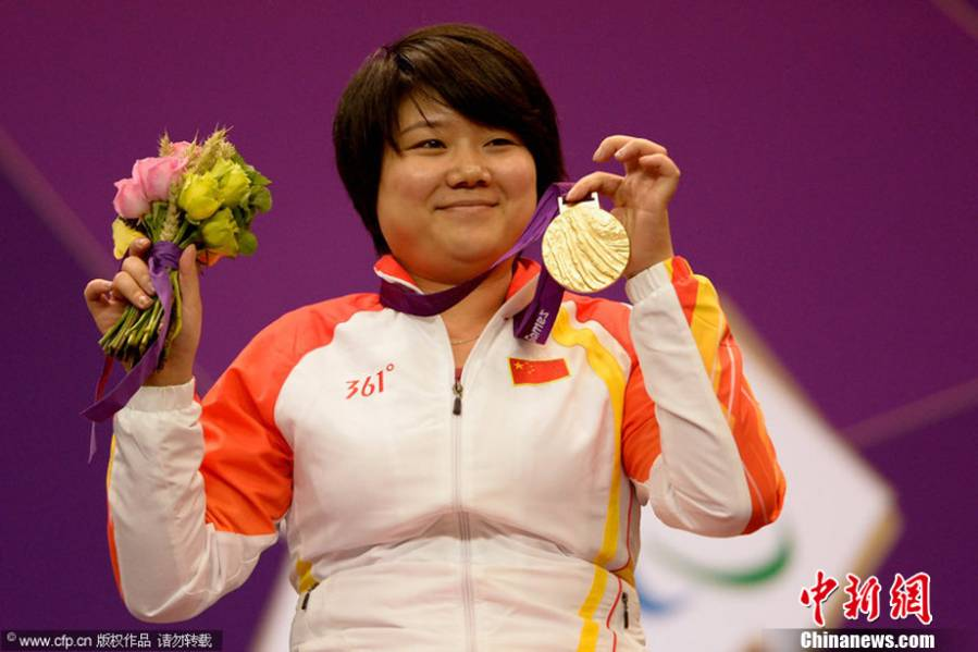 China gets Paralympics' first gold, topping medal table