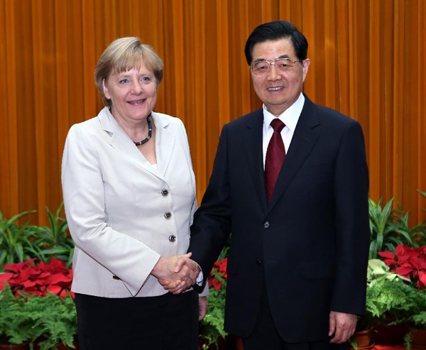 Hu Jintao reaffirms support to Europe in addressing debt crisis