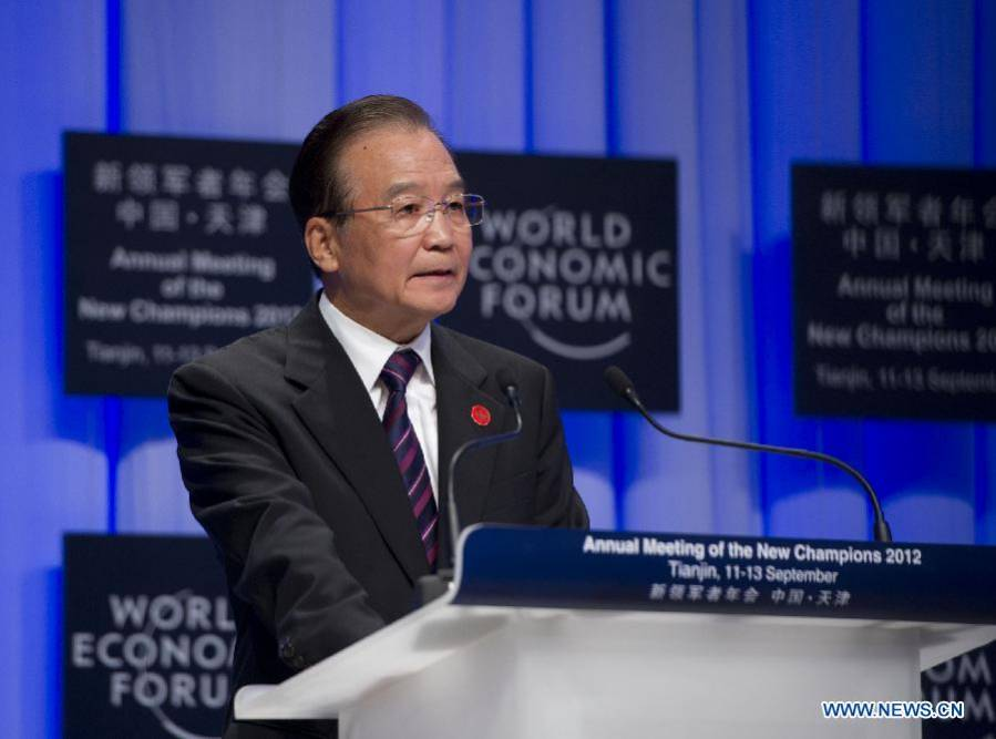 Premier Wen addresses opening ceremony of World Economic Forum in N China