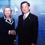 File photo: Clinton, Lien met at APEC.